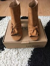 Peeptoe Knotted Front Shoe Boots
