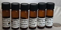 Pure Essential Oils, All Natural Aromatherapy, amber glass drams, droppers caps