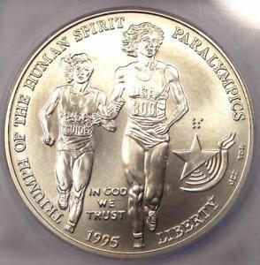 1995-D Olympics Paralympics Dollar $1 - Certified ICG MS70 - Rare Top Grade!