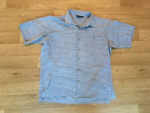 Mountain Hardwear Mens Walking Shirt Size Large Blue (428)