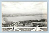 Lake Elsinore CA Ortega Terrace 2,500 ft. Old Panoramic View Real Photo Postcard