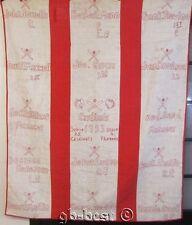 RARE 1953 American Baseball QUILT  Cardinals Yankees PLAYers Names Managers