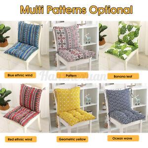 Garden Rocking Deck Chair High Back Chair Cushion Outdoor Sun Seat Pad Cushions