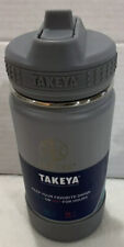 Takeya- 14oz Insulated Stainless Steel Water Bottle - Gray Fossil BPA Free