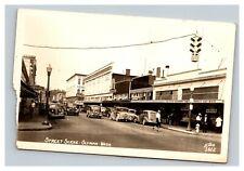 Vintage 1946 Retail District Street Scene Antique Autos Olympia Washington