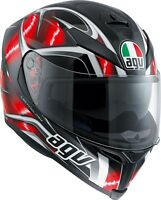 CASCO INTEGRALE AGV K-5 S MULTI PLK - HURRICANE BLACK - RED - WHITE TAGLIA XS