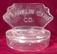 Franklin Caro Company Jar Lid Only EAPG Clear Glass Rare For Chewing Gum