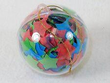 Ball Shaped Bath Soap Ornament w/Multi-Colored Confetti, Light Floral Scented
