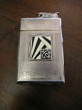 "RARE 1928-1934 ""Roller Bearing"" LIGHTER with cigarette case - Evans - Art Deco"