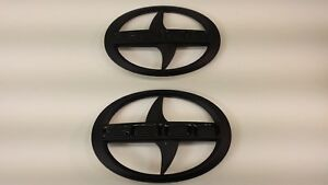1 - Set BRAND NEW SCION TC Front & Rear Black Badge Emblem 2011-2016 tC F/R MBB