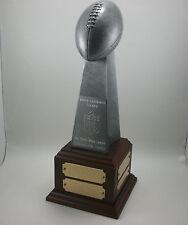 Fantasy Football Lombardi Trophy Award with Base. Free Engraving.