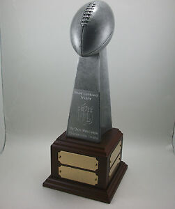 Fantasy Football Lombardi Trophy Award with Base. Free Engraving.