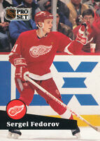 Sergei Fedorov 1991-92 Pro Set French #53 Detroit Red Wings Hockey Card