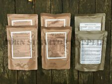 6 x MAIN MEAL RATION PACK MIX - Army MRE Camping Survival 24hr Food Ready Meals