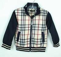 Boys designer Tartan Windbreaker Navy Coat Jacket size 12-24 months, 2,3,4, 5