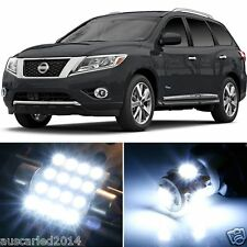 Nissan R52 2013-14 Pathfinder super bright White LED Interior Light Kit 10pcs