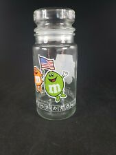 Vintage M&M 1984 Los Angeles Olympic Games Glass Jar Canister With Lid Anchor