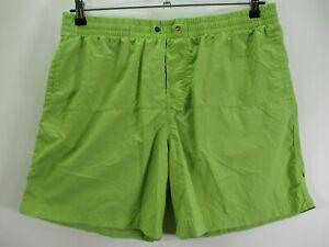 Columbia Omni-Shield Men's Size Large Green Swim Shorts Mesh Lined Pull On Waist