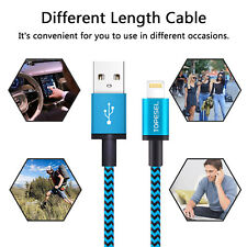 Blue 1M Charger USB Data Cable Blue Apple Lightning Cable For iPhone 7 8 X