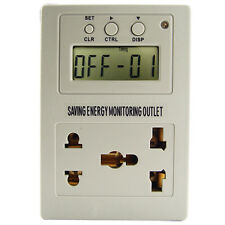 Saving Energy Evaluation Usage Monitor Power Outlet Controller Outlet 220 VAC AC