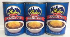 12 CANS OF  ORIGINAL SKYLINE CHILI  (15 OUNCE  CANS)   CINCINNATI STYLE CHILI