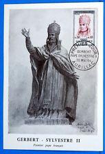GERBERT PREMIER PAPE FRANCAIS   1964  Yt  1421  Carte Postale Maximum