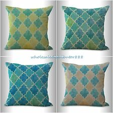 US SELLER-4pcs decorative pillows discount cushion covers vintage moroccan print