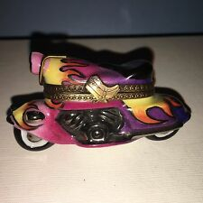 Chanille Magenta, Orange and Yellow Motorcylce from Limoges France