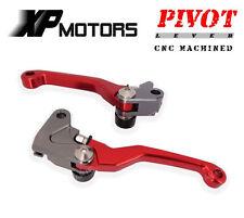 CNC FLEX Pivoting Levers Brake Clutch Lever Set For Honda CRF450R 2002 2003 Red