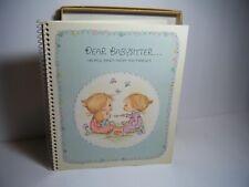 Vintage 1972 Hallmark Betsey Clark Dear Babysitter Information Spiral Book New