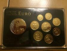 Ein Kursmünzensatz Zypern aus dem Jahr 2009 vergoldet