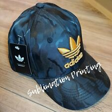 Adidas Black And Gold shiny Trefoil Baseball Cap