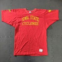 VTG 70s/80s CHAMPION Iowa State Cyclones Jersey MEDIUM Red Yellow USA Football