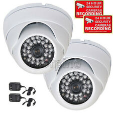 2 Dome Security Camera w/ SONY Effio CCD IR Day Night Vision Wide Angle CCTV mg9
