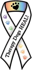 """THERAPY DOGS HEAL!"" Car Ribbon Magnet  QUALITY"