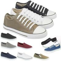 MENS CANVAS SHOES BOYS CASUAL RETRO SUMMER PUMPS PLIMSOLLS TRAINERS SHOES SIZE