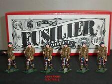 FUSILIER MINIATURES SC4 WORLD WAR ONE SCOTS GLENGARRY METAL TOY SOLDIER SET