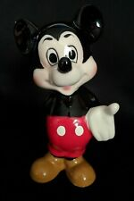 Vintage Walt Disney Productions Mickey Mouse Glazed Ceramic Figure Made in Japan