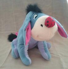 Disney Eyore fabric toy with ladybug on his nose 43cm Winnie the Pooh