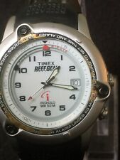 timex reef gear watch,indiglo Wr/50m,date, Alarm 40 Mm Case Black Rubber Band