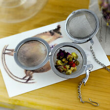 DE0D 4.5cm Stainless Steel Infuser Strainer Mesh Tea Filter Locking Ball Hot
