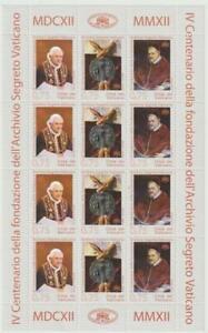 VATICAN 2012 - Minisheet Archivio Segreto Vaticano MNH / N7140