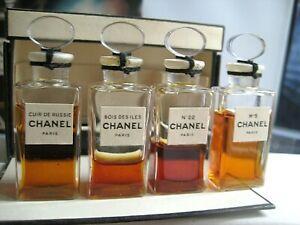🎁Vintage New Sealed PARFUM Set Chanel No 22 Bois des Iles Cuir de Russie perfum