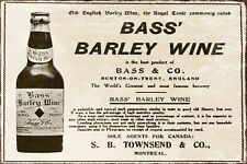 Bass' Barley Wine Advert Vintage Retro style Metal Sign, pub, English brewery
