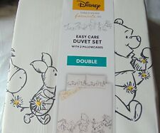 George Winnie The Pooh 100 Acre Woods Reversible Double Duvet Cover Bed Set BN
