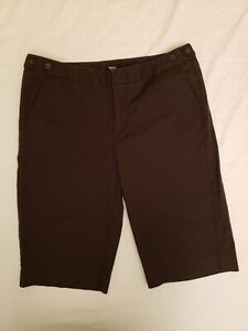 """Mossimo Stretch Dark Brown long (13"""")Shorts Size 12"""