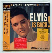Rare Elvis Presley Mini LP CD & Insert - Elvis Is Back! - Japan Import - OOP