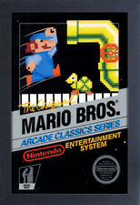 SUPER MARIO BROS ARCADE VIDEO GAME 13x19 FRAMED GELCOAT POSTER NINTENDO CLASSIC!