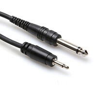 """Hosa CMP-305 3.5 mm TS to 1/4"""" TS Mono Interconnect Audio Cable 5'"""
