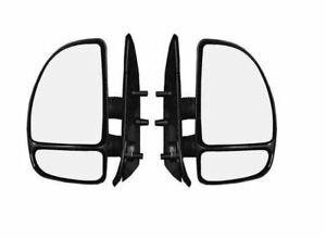Fiat Ducato 1998-2007 Door Mirror Manual Black Short Arm Pair Left & Right